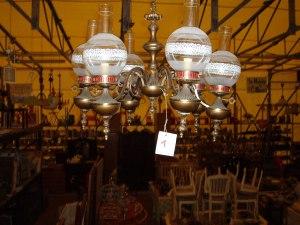 lampadario a 6 bocce rotonde classico
