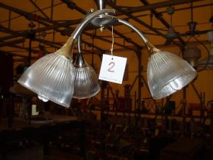 lampadario con tre punti luce