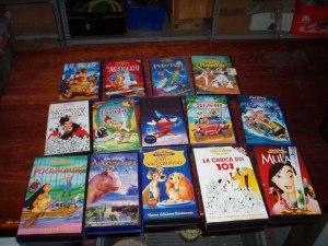 videocassette walt disney set