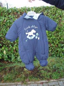 tuta invernale blu neonato