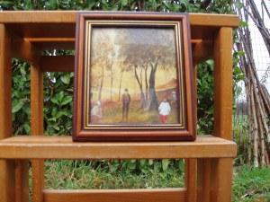 dipinto su piccola tela quercia