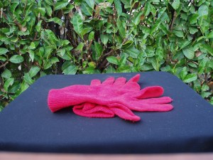 guanti donna in lana rossa