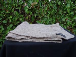 sciarpa donna in lana grigia