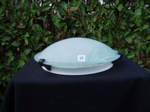 plafoniera rotonda in vetro verde