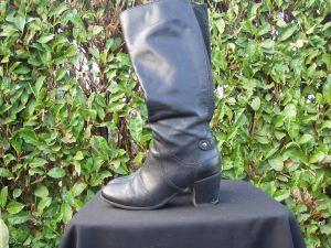 stivali donna in pelle nera