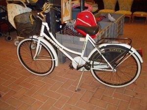 bicicletta bianca da donna ruote del 24