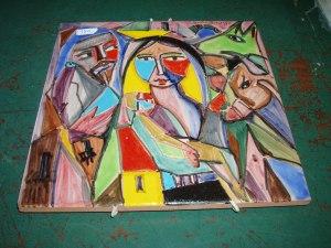 piastrella artistica dipinta a mano