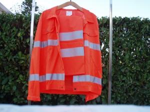 completo da lavoro esterno arancio riflettente
