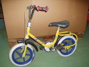 bicicletta bambino gialla