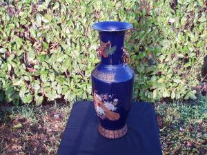 vaso orientale in ceramica blu
