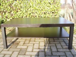 tavolino nero da salotto