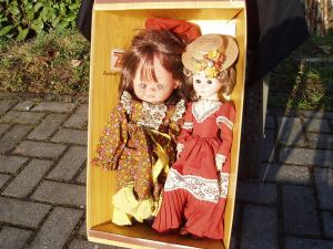coppia bambole anni '70
