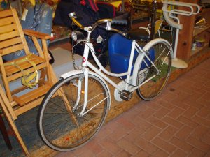 bicicletta bianca da donna