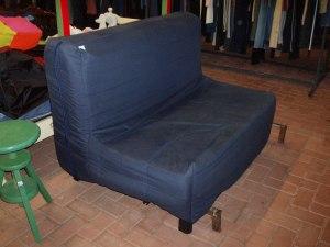 divano letto blu 140 cm