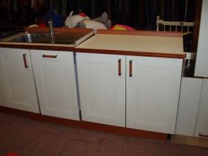 particolere del lavello bianco e marrone
