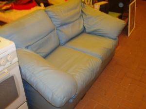 divano letto azzurro singolo