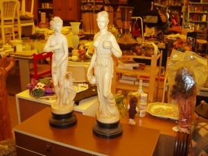 coppia statue matrone romane