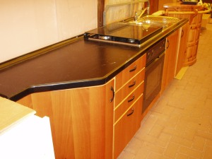 cucina lineare nera 2,66 metri
