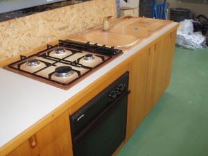 particolare piano cottura cucina 3,9 mt