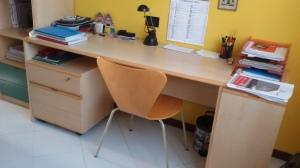 scrivania + libreria a colonna