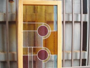 parte superiore vetrata artistica