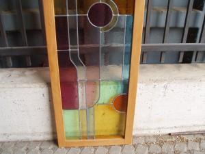 parte inferiore vetrata artistica