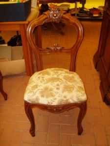 sedia poltroncina del tavolo ovale