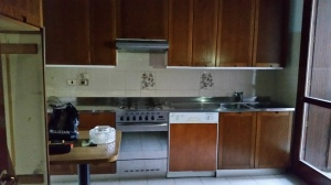 cucina lineare in acciaio