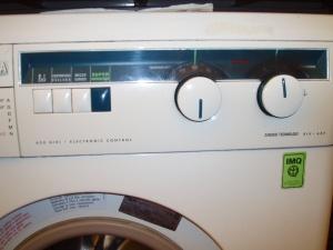 lavatrice fluvia vista comandi elettronici