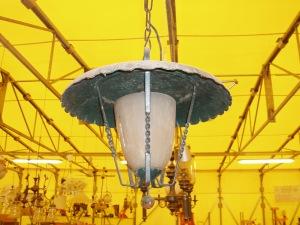 lampadario a lanterna in ferro battuto
