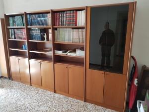 vista laterale libreria 4 moduli