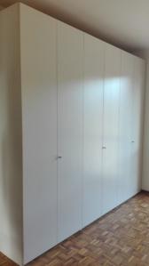 armadio moderno bianco a sei ante