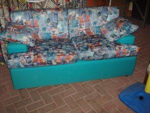 divano verde fantasia sfoderabile 165 cm