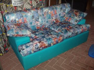 divano verde due posti