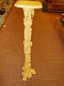 colonna portavasi orientale in finto avorio