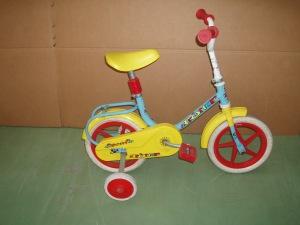 bicicletta bimbo gialla con rotelle