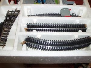 particolare binari trenino lima
