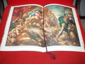 """calendario carabinieri 1993 pagina centrale dipinto di Bruno D'arcevia, """"allegoria d'europa"""""""