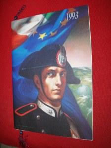 calendario carabinieri 1993 copertina