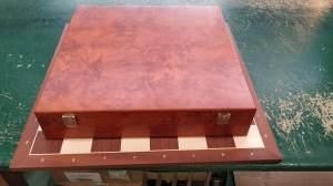scacchiare da 54x54 cm in mogano e acero